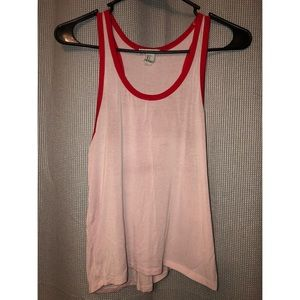 Pink and red tank top